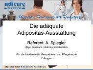 Die adäquate Adipositasausstattung_Hr. Spiegler - Akademie