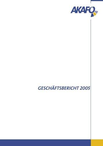 GESCHÄFTSBERICHT 2005 - AKAFÖ Bochum