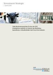 Investment Strategie 1. Quartal 2012 - AKB Privatbank AG