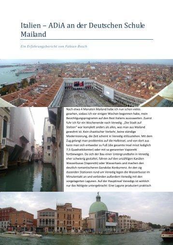 Italien – ADiA an der Deutschen Schule Mailand - AKBV