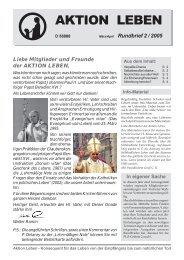 Rundbrief 02/2005 als PDF - AKTION LEBEN e.V