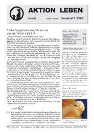 Rundbrief 01/2006 als PDF - AKTION LEBEN e.V