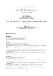Enzyklika Evangelium vitae - AKTION LEBEN e.V