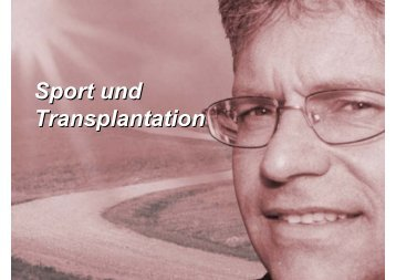Sport nach der Transplantation - AKTX-Pflege eV