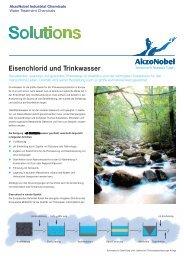 Eisenchlorid und Trinkwasser - AkzoNobel