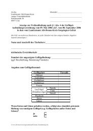 Anzeige zur Freilandhaltung nach § 1 Abs. 4 der ... - Alb-Donau-Kreis