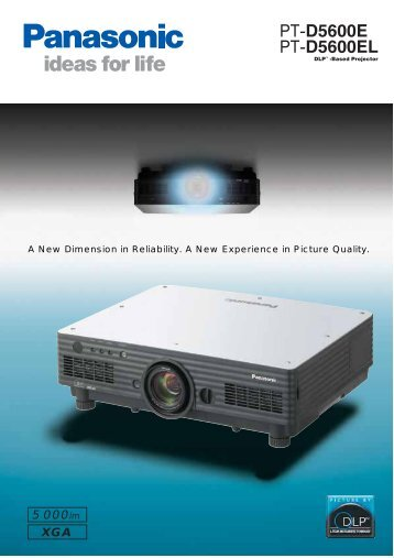 Panasonic system projector for bright, high-quality image projection ...