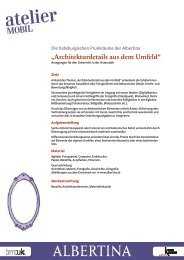 Architekturdetails aus dem Umfeld - Anregungen für den ... - Albertina