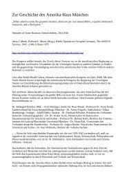 Zur Geschichte des Amerika-Haus München - Albert Ottenbacher