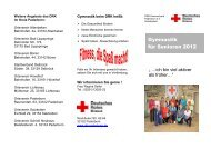 Unsere Angebote richten sich an: - Drk-Kreisverband Paderborn e.v.