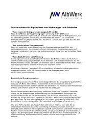 Albwerk-Information zum Gebäudeausweis