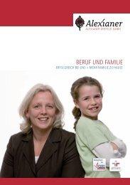 Broschüre Beruf und Familie Alexianer Krefeld GmbH
