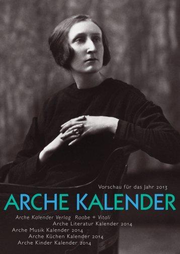 Arche Kalender Vorschau - Alexandra Wübbelsmann