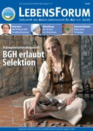 BGH erlaubt Selektion BGH erlaubt Selektion - Aktion Lebensrecht ...