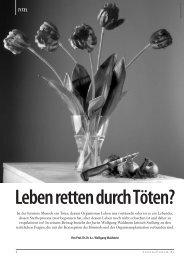 Leben retten durch Töten? - Aktion Lebensrecht für Alle eV