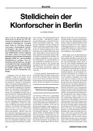 Stelldichein der Klonforscher in Berlin