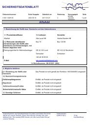 SICHERHEITSDATENBLATT AlfaAdd - Alfa Laval