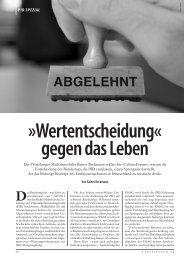 Wertentscheidung« gegen das Leben - Aktion Lebensrecht für Alle eV
