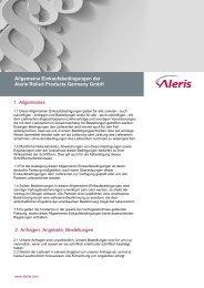 1. Allgemeines 2. Anfragen, Angebote, Bestellungen ... - Aleris