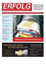 Erfolg_Ausgabe Nr. 7 - August 2011