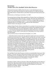 Rezensionen Theodor Ebert: Der rätselhafte Tod des René Descartes