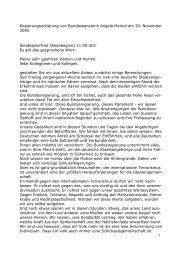Regierungserklärung von Bundeskanzlerin Angela Merkel am 30