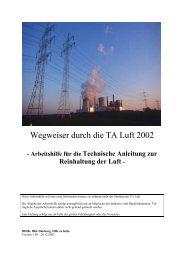 Wegweiser durch die TA Luft 2002
