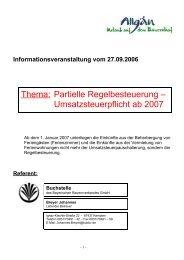 Informationsveranstaltung vom 27.09 - Allgäu