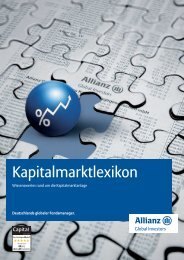 Kapitalmarktlexikon - Allianz Global Investors