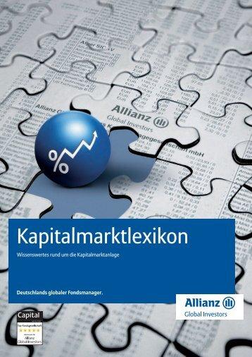 Kapitalmarktlexikon - Allianz Global Investors