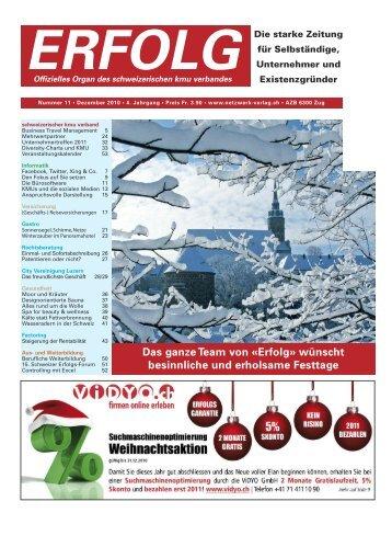 Erfolg_Ausgabe Nr. 11 - Dezember 2009