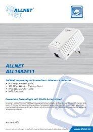 ALLNET ALL1682511 500Mbit HomePlug AV Powerline / Wireless ...
