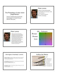 """The Physiology of color vision """"Gegenfarben"""" Peter Lennie Peter ..."""