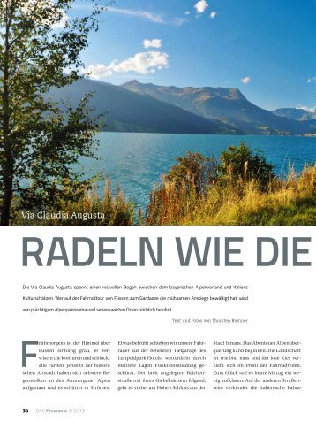 Radeln wie die Römer - Deutscher Alpenverein