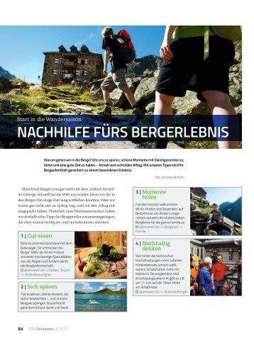 Nachhilfe fürs BergerleBNis - Deutscher Alpenverein