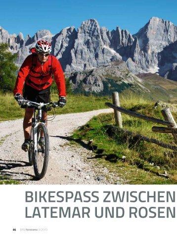 bikespass zwischen Lagorai, Latemar und rosen garten - Deutscher ...