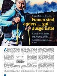 Frauen sind anders ... gut ausgerüstet - Deutscher Alpenverein