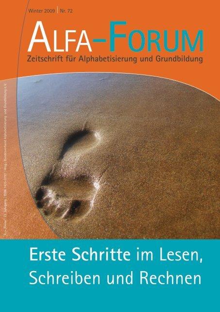 Erste Schritte im Lesen, Schreiben und Rechnen - Bundesverband ...