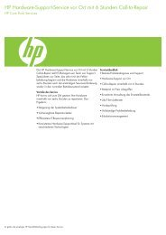 HP Hardware Support 6 Stunden Call.pdf - alphaTrust.ch ag