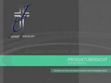 """JesusCreativ"" Produktkatalog Web"
