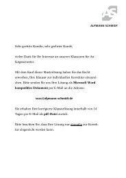 Leseprobe: Die Lösung - Alpmann Schmidt