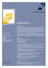 Sachenrecht 3 - Alpmann Schmidt