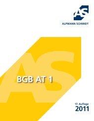 BGB AT 1 2011 - Alpmann Schmidt