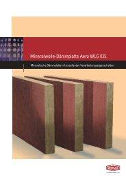 Mineralwolle-Dämmplatte Aero WLG 035. - Alsecco
