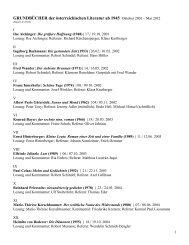 Grundbücher der österreichischen Literatur seit 1945 - Alte Schmiede