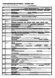 literaturprogramm september + oktober 2002 - Alte Schmiede