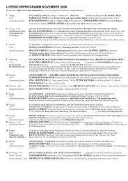 LITERATURPROGRAMM NOVEMBER 2000 - Alte Schmiede
