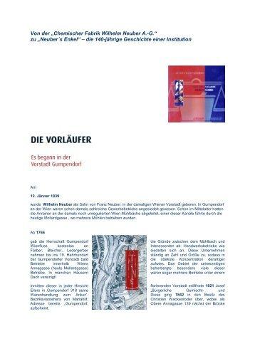 """Von der """"Chemischer Fabrik Wilhelm Neuber A.-G."""" zu ... - Althofen"""