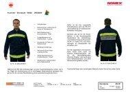 Dienstjacke EN 531 Feuerwehr – Dienstjacke