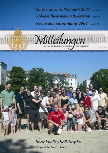 Mitteilungen Juli 2007 - Alttheresianisten